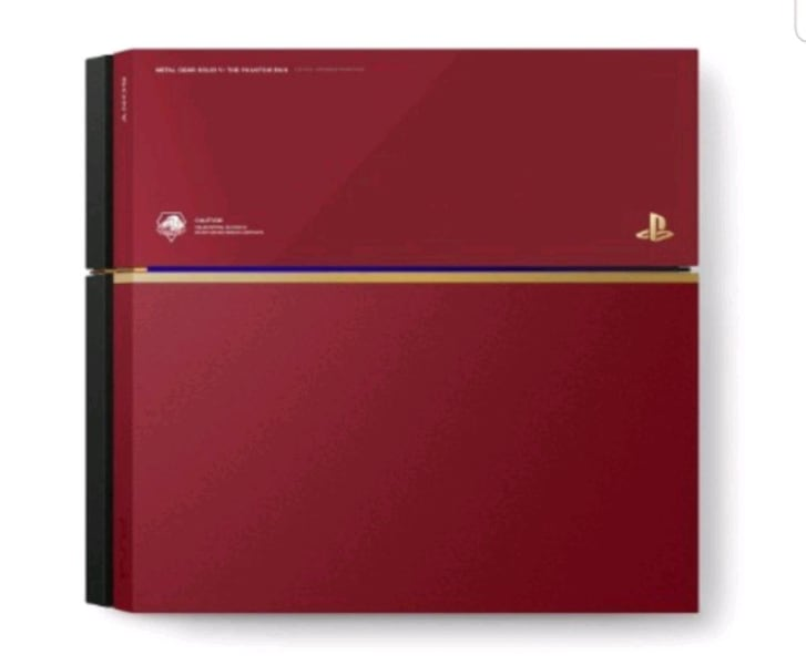 PS4 Playstation MGSV Phantom Pain Edition Red 500 GB 0