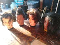 HairArt Mannequin Heads w/ Real Human Hair 1197 mi