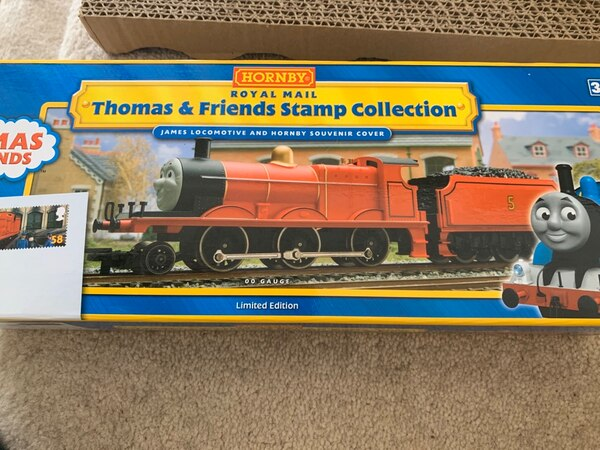 Hornby R9687 Thomas & Friends 'James The Red Engine Stamp Collection 6c404cce-ceab-479e-80e7-191fe08f488a