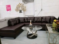 Brand new faux leather modern sectional on sale  Toronto, M9W 1P6