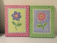 two purple and pink petaled flowers paintings Bécancour, G9H