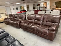 Brown Leather Power Reclining Sofa, Power Reclining Chair And Matching Loveseat  Jacksonville, 32218