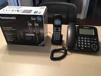 Panasonic cordless and corded telephone bundle with answering machine  Brampton, L6X 0W1