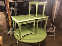 white and green wooden vanity table Eliot, 03903