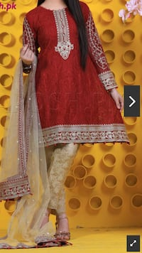 women's brown and white traditional dress Toronto, M1L 0H4