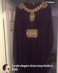 Purple dress ladies new medium - bought in Dubai  London, N6H 4W1