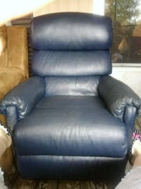 black leather recliner sofa chair Lincoln, 35096