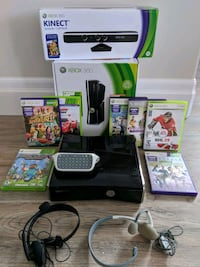 Xbox 360 with Kinect, headset and keyboard Waterloo, N2L