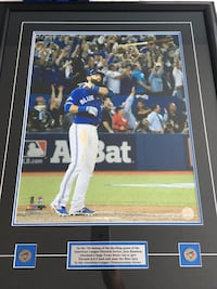 Jose Bautista Bat flip original picture in frame. Toronto, M2N