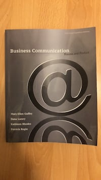 Business communications textbook, bought for $100 Vancouver, V6K 3S5