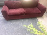 red fabric 2-seat sofa Chester, 23831