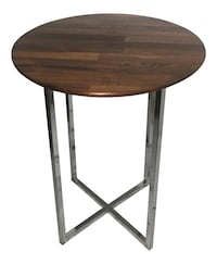 Milo Baughman for Thayer Coggin parquet rosewood and chrome site table
