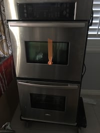 Whirlpool stainless steel double ovens