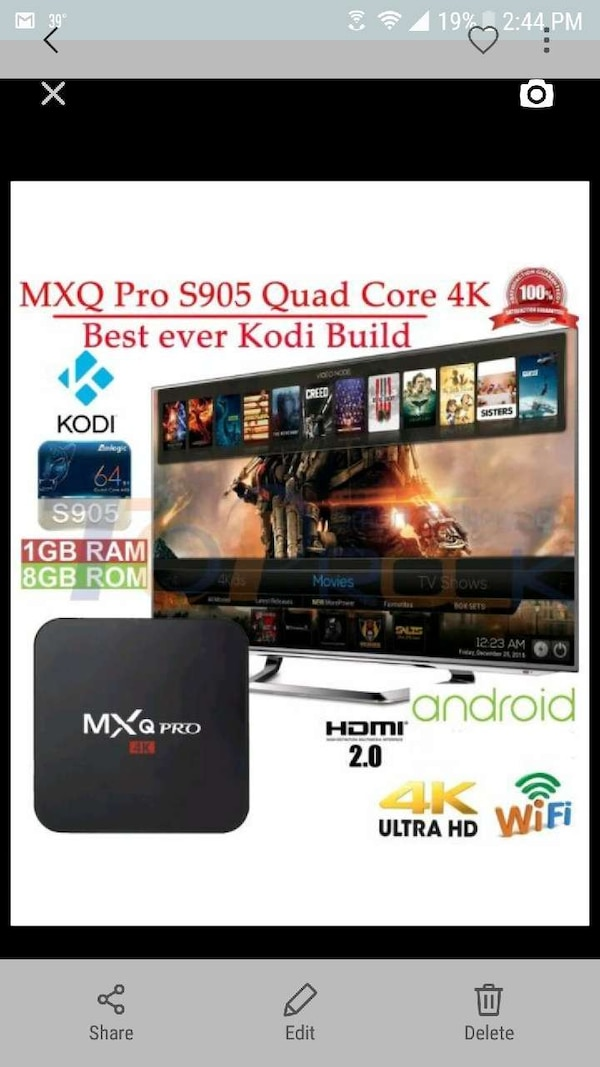 Android tv box fully loaded with kodi and mobdro