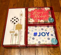 Set of 3 Papyrus Holiday Card Boxes with Envelopes - 46 Total New York, 10012