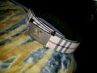 black and white Burberry leather belt Baltimore, 21231