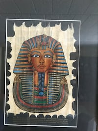 "Framed Egyptian Picture(18""x15""),SMOKE FREE HOME"