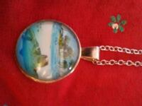 round green Turtle on body of water pendant silver link necklace Springfield, 65807