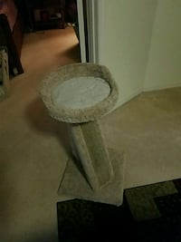 round gray metal base with white marble top table Melbourne, 32935