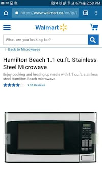 Hamilton Beach 1.1 cu.ft. stainless steel microwave 541 km