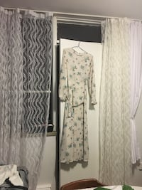 White and gray floral print dress Toronto, M3N 1M7