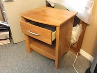 Oak color night stand table Whitby, L1N 8Z7