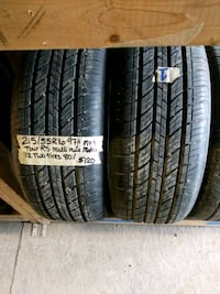 215/55R16 two summer tires  Calgary, T2B 2T8
