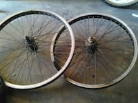 two black and gray bicycle wheels Bell Gardens, 90201