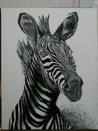 Zebra painting Red Bluff, 96080