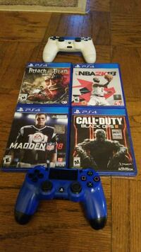 four Sony PS4 game cases Reston, 20190