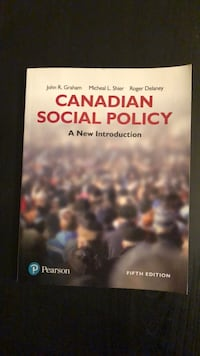 Canadian Social Policy: A New Introduction (textbook) fifth edition  Toronto