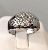 10k white gold men's diamond ring *Super Low Priced ! Vaughan, L4J