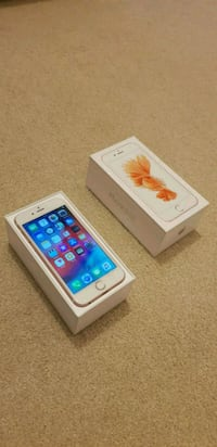 silver iPhone 6s with box