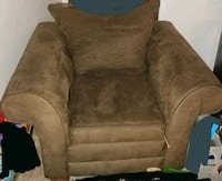 Brown suede oversized chair Elmwood Park, 07407
