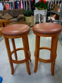 two brown wooden bar stools Phoenix, 85035
