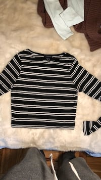 black and white striped long-sleeved shirt Washington, 20016