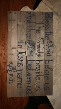 Wooden Wall art Mission, 78572
