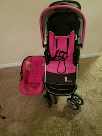 baby's black and pink travel system Blythewood, 29016