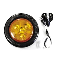 "Bargman 47-30-032 Round Amber Led Trailer Clearance Light - 2"" - #30 Series"