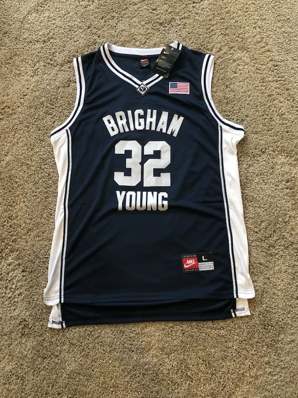 new product 86df1 36c7b Jimmer Fredette BYU Cougars Basketball Jersey