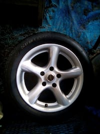 16x10 in rims and tires set of 4 for Small Chevy 5 lug S10 Camaro etc.