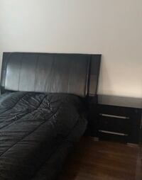 Queen size bed with 1 nightstand