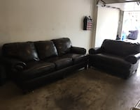 Brown leather 2-peace sofa set New Britain, 06053