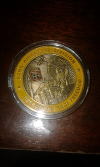 round gold-colored coin null