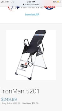 IronMan inversion table(New in Box)