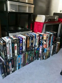 Vhs Lot With Dvd Tv Included and Vcr Also