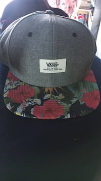 Gray and multicolored vans flat brimmed cap Hollister, 95023