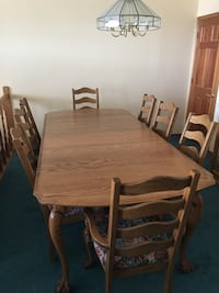 Rectangular brown wooden table with six chairs dining set Jurupa Valley, 92509
