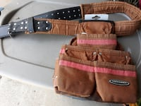 VOYAGER BRAND HEAVY DUTY TOOL BELT WITH TRIPLE POUCH Mount Washington
