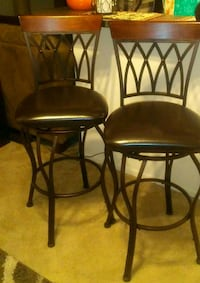 """31"""" Leather Barstools  w/wrought iron legs & back  Columbia, 21044"""